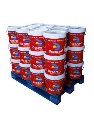 Decorsol Decoración Interior-Exterior Palet 33 bidones 14 litros