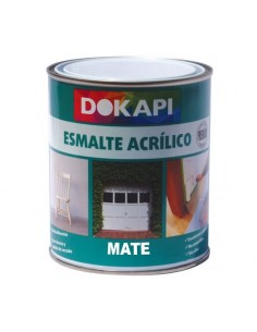 Dokapi Esmalte Acrílico Multiadherente Mate Blanco 750ml