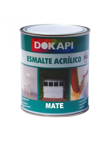 Dokapi esmalte acr lico multiadherente mate blanco 750ml - Pintura satinada blanca ...