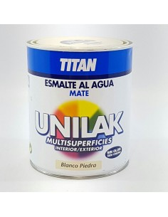 Titan Unilak Esmalte Laca Universal Blanco Piedra
