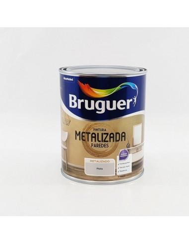 Bruguer Pintura Metalizada Paredes Plata