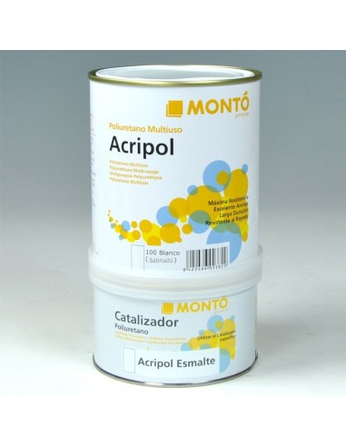 Montó Acripol Esmalte Poliuretano Satinado + Catalizador