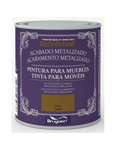 Bruguer Pintura Muebles Acabado Metalizado Oro